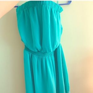 EXPRESS XS Seafoam Green Chiffon Dress